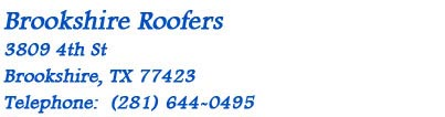 Contact Brookshire Roofers